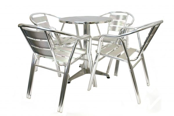 Bistro Garden Furniture Set - Aluminium Double Leg - BE Furniture Sales