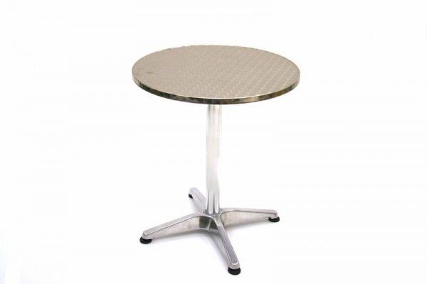 Aluminium Bistro Table - 60cm Dia, Weather Resistant - BE Furniture Sales