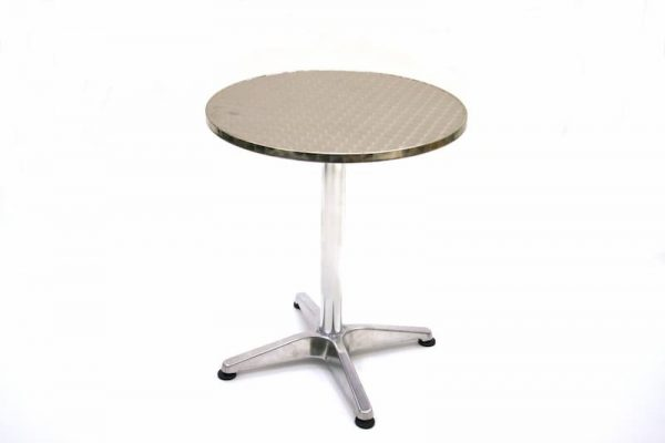 Aluminium Bistro Table - 60cm Dia, Weather Resistant - BE Furniture Sales
