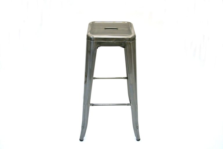 Silver Metal Tolix Bar Stools - BE Furniture Sales