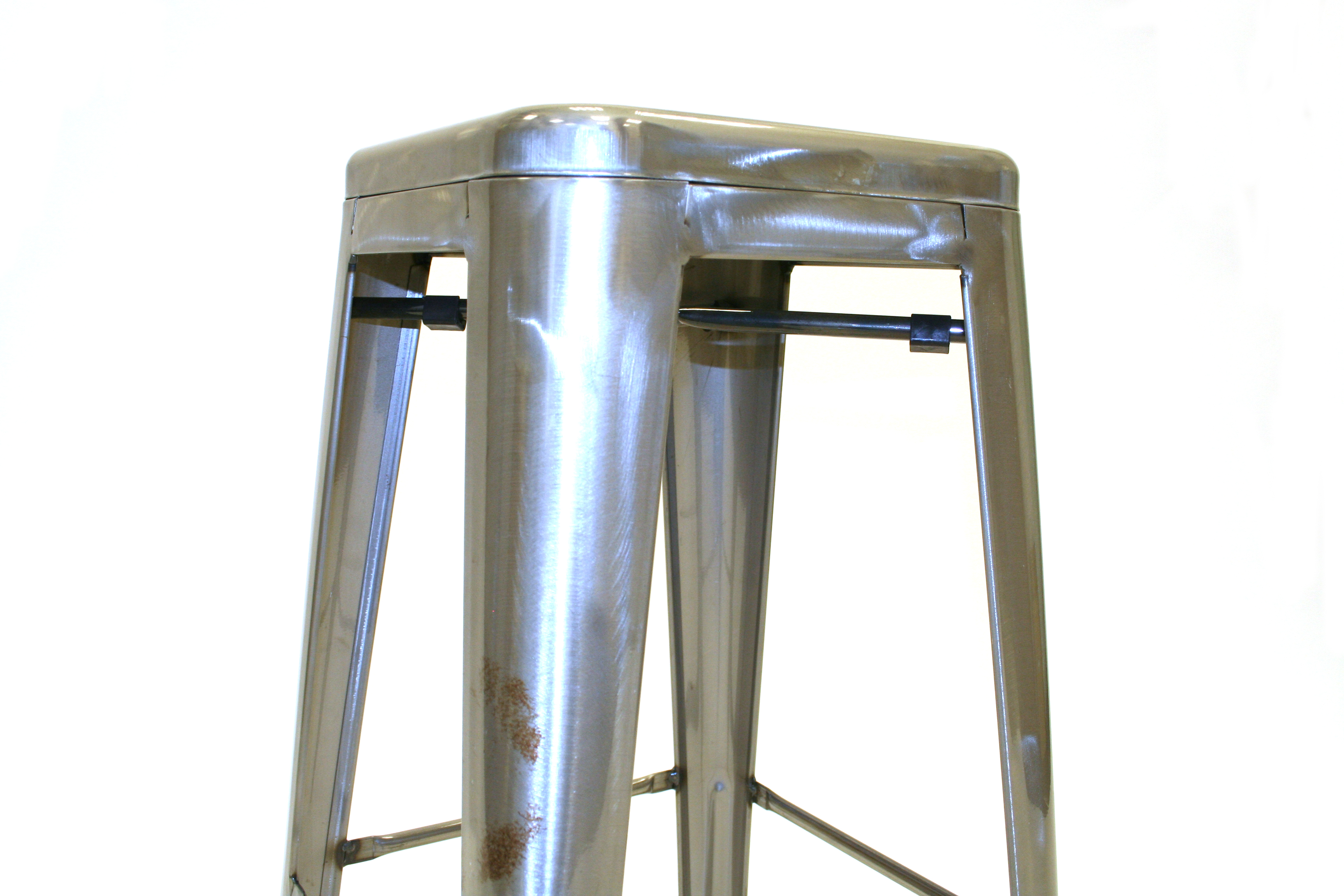 Silver Metal Tolix Bar Stools Restaurant Cafe S