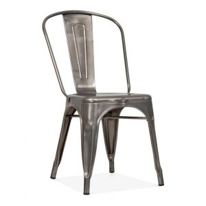 Gun Metal Tolix Bistro Chair - BE Furniture Sales