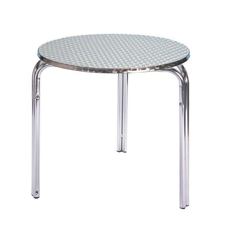 Round Aluminium Table 70cms - BE Furniture Sales