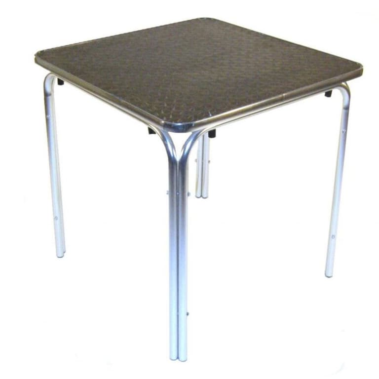 Square Aluminium Table - BE Furniture Sales