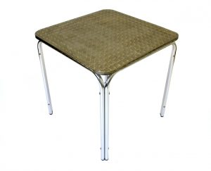 Aluminium Square Bistro Table - Factory 2nd's - BE Furniture Sales