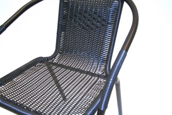 Black Rattan Chairs - Close Up of Weave - BE Furniture Sales