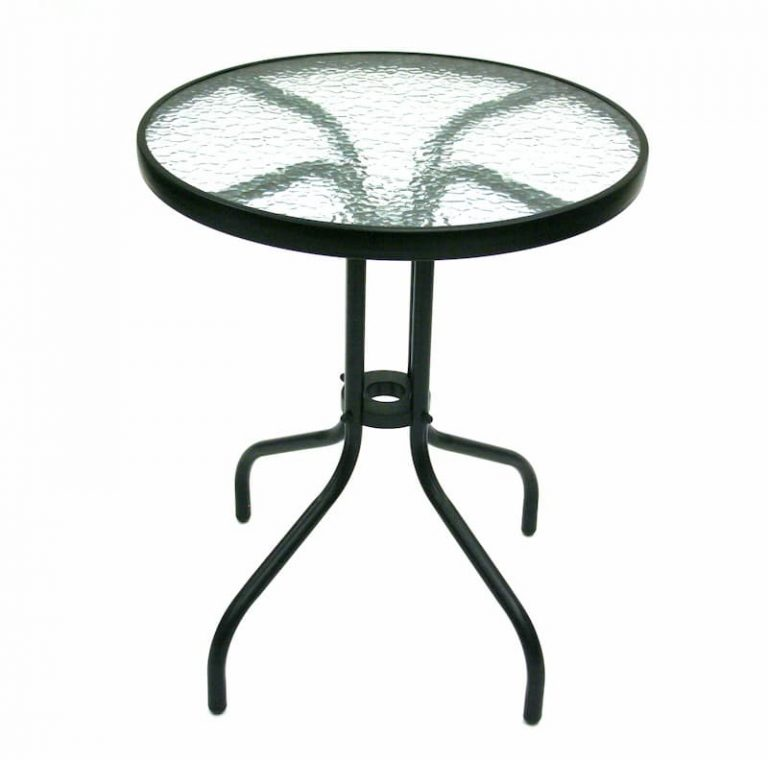 Black Glass Garden Table - BE Furniture Sales