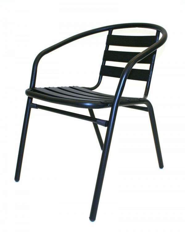 Black Steel Chairs - Cafe's, Bistro's or Home Garden - BE Furniture Sales