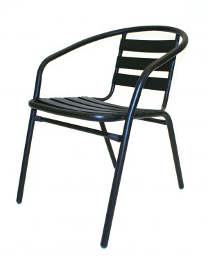 Black Steel Chairs - Cafe's, Bistros or Home - BE Furniture Sales
