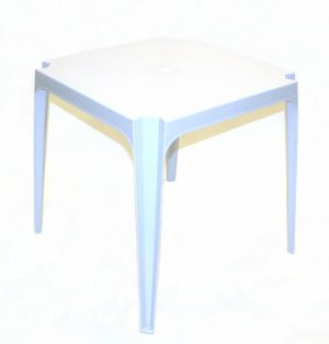 Square Stacking Plastic Patio Table - 70 cm - BE Furniture Sales