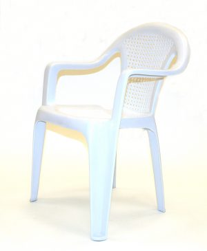 Patio Chair White Plastic - Cafe's, Bistros or Garden - BE Furniture Sales