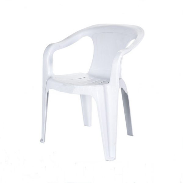 White Plastic Patio Chairs - Cafe's, Bistros or Home - BE Furniture Sales