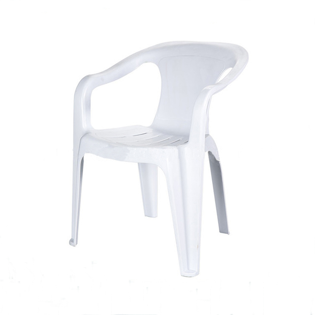White Patio Chair - Plastic Stacking Chairs - BE Furniture Sales