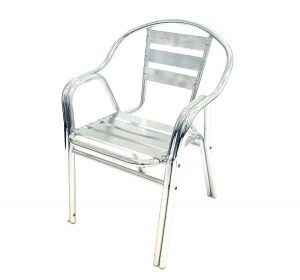 fish & chip shop double leg aluminium chair - BE Furniture Sales