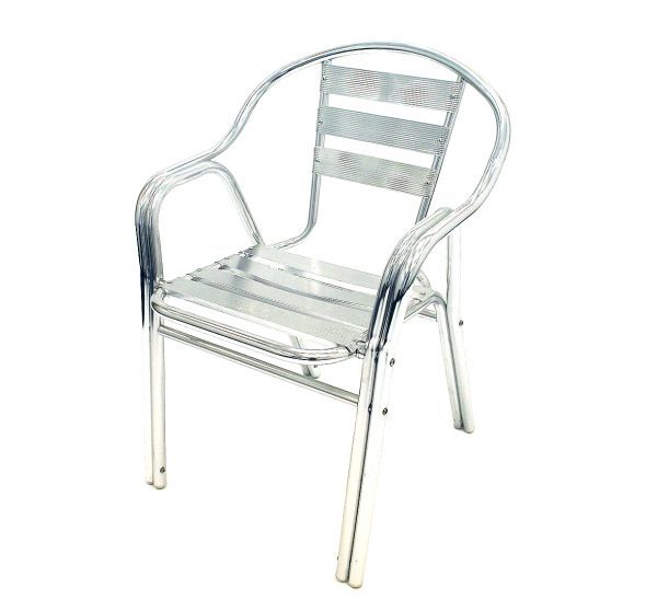 fish & chip shop double leg aluminium chair - BE Furniture Sales