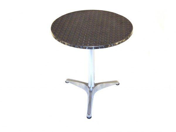 fish & chip shop round aluminium tables 60cm - BE Furniture Sales