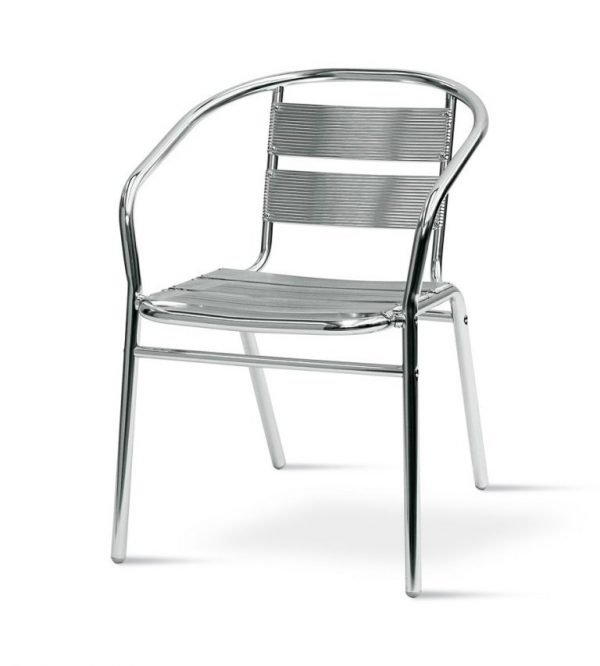 fish & chip shop standard aluminium chair - BE Furniture Sales
