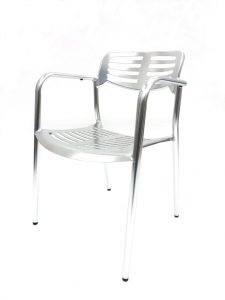 fish & chip shop welded aluminium chair - BE Furniture Sales