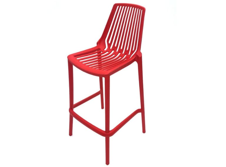 Red Porto Bar Stools - BE Furniture Sales