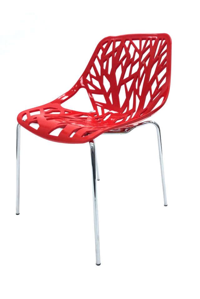 Red Tuscany Chairs - Plastic Stacking Chairs - BE Furniture Sales
