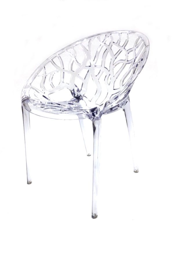 Clear Umbria Chairs for Cafe's, Bistros or Home - BE Furniture Sales