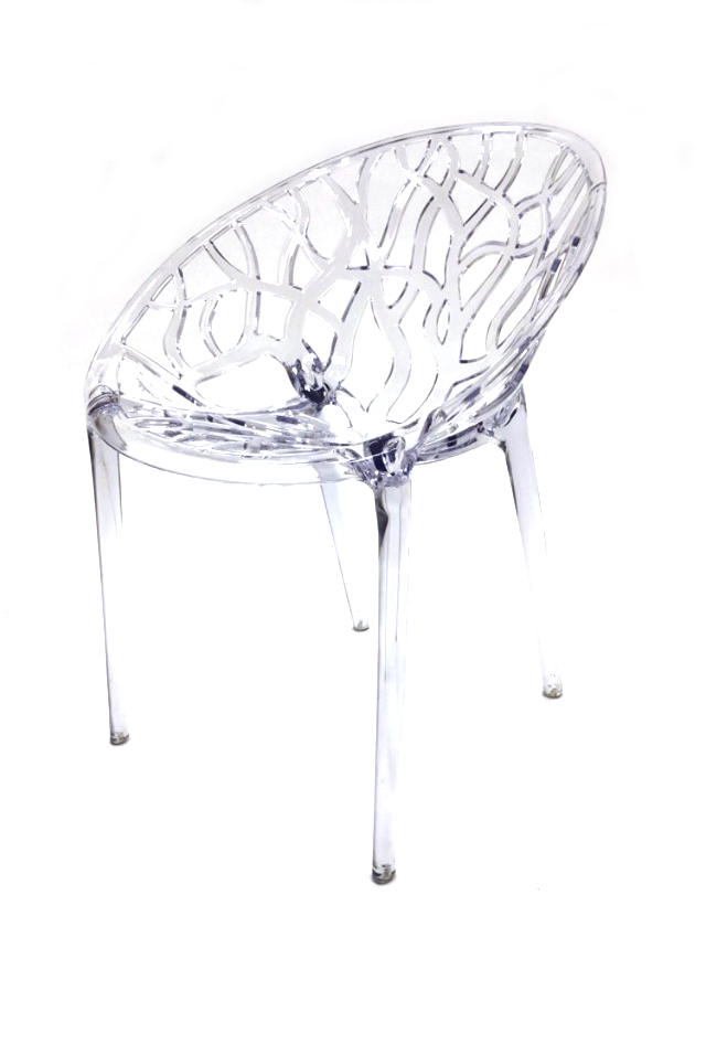 Clear Umbria Chairs - Plastic Stacking Chairs - BE Furniture Sales