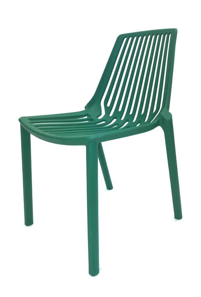 Green Lisbon Chairs - Plastic Stacking Chairs - BE Furniture Sales