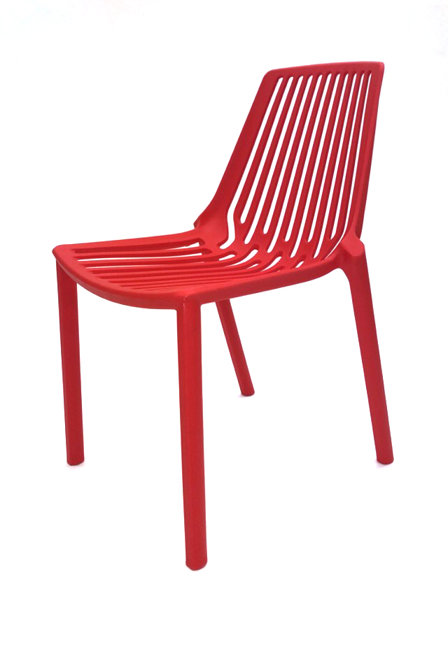Red Lisbon Chairs - Plastic Stacking Chairs - BE Furniture Sales
