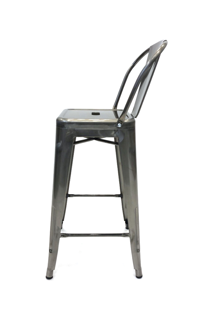Silver Metal Tolix Counter Stools Restaurant Cafe S