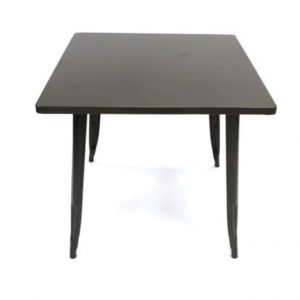 Bronze Tolix Table - 80 cm x 80 cm - Cafe's, Bars, Bistros, Home - BE Furniture Sales