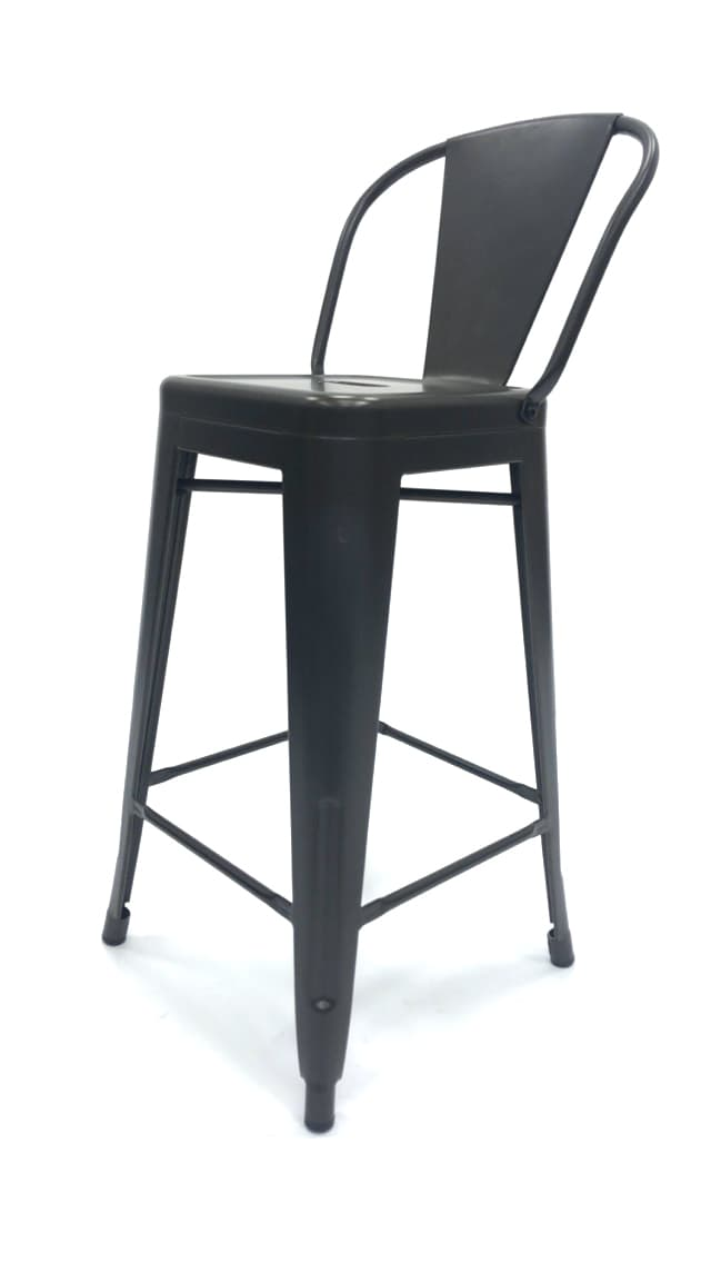 Bronze Metal Tolix Counter Stools - BE Furniture Sales