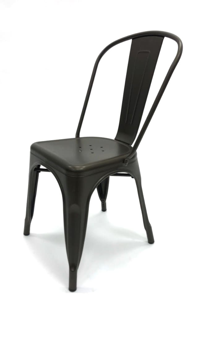 Bronze Metal Tolix Chairs - BE Furniture Sales