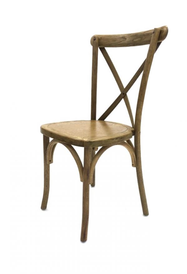 Buy Light Oak Wooden Cross Back Chairs - BE Furniture Sales