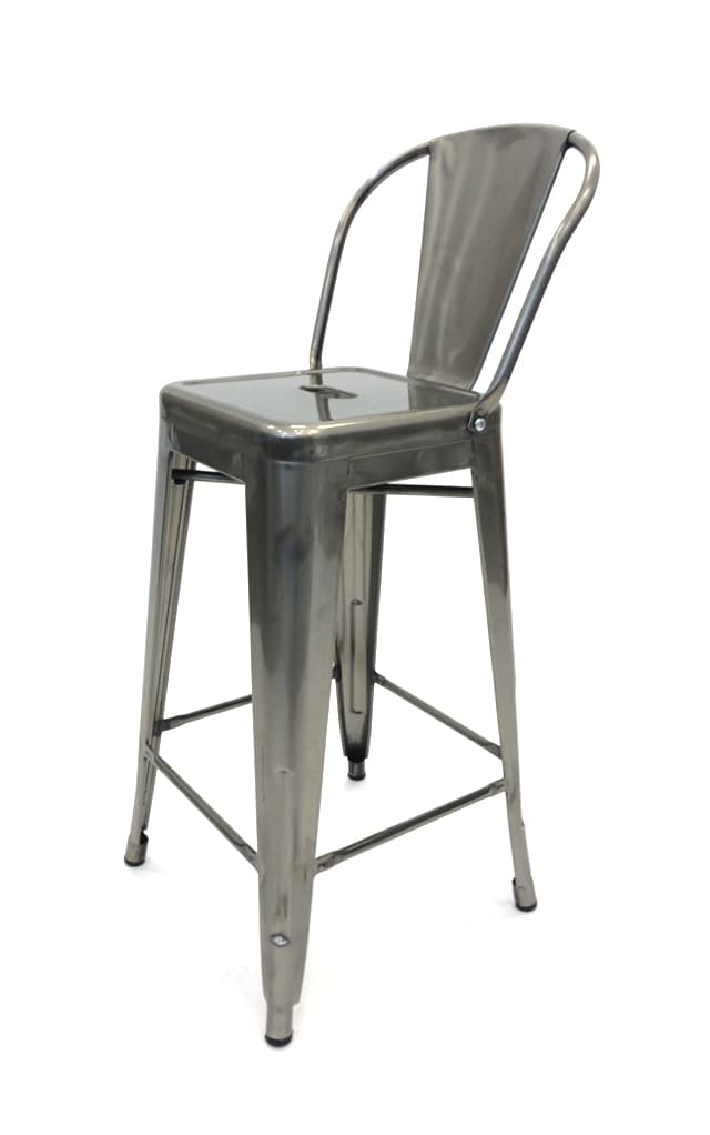Silver Metal Tolix Counter Stools - BE Furniture Sales