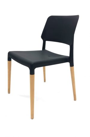 Madrid Black Stacking Chairs - Cafe's, Bistros, Home - BE Furniture Sales