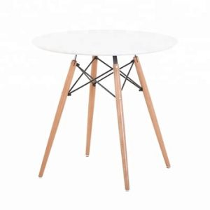 White Wooden Pyramid Table - 80cm Dia - BE Furniture Sales