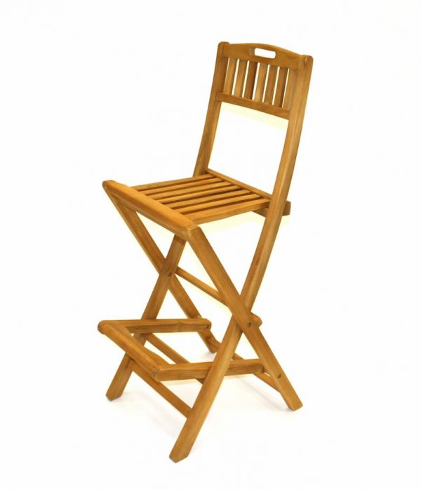 Folding Teak Bar Stools - Home, Cafe's, Bistros - BE Furniture Sales
