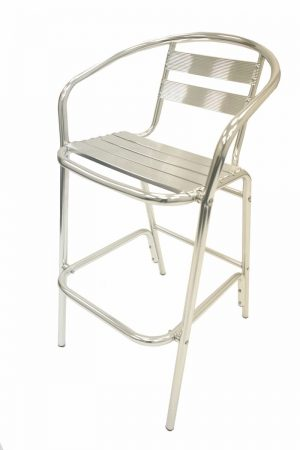 Ex Hire Aluminium Bar Stool - Pub, Cafe's, Venues - BE Furniture Sales