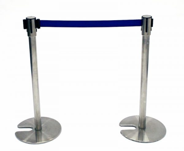 Ex Hire Blue Stretch Barrier - Crowd Control - BE Furniture Sales