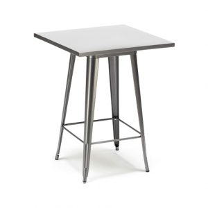 Gun Metal Tolix High Bar Table - 60 cm x 60 cm - BE Furniture Sales