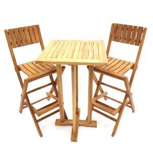Teak High Table & Stools