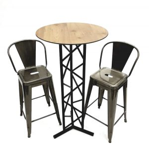 Silver Tolix Bar Stool Furniture