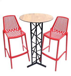 Red Stool Set
