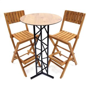 Teak Bar Stool Set