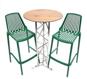 Green Bar Stool Set