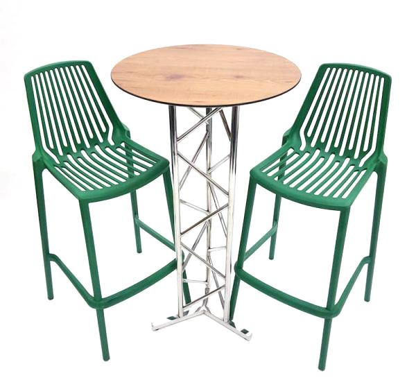 Green Bar Stool Set