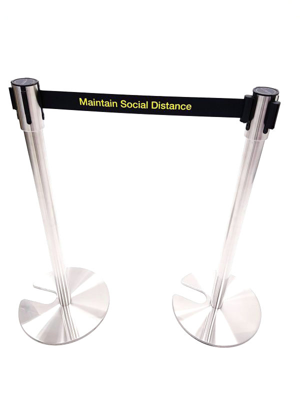 Retractable Stretch Barrier - Maintain Social Distance - BE Furniture Sales