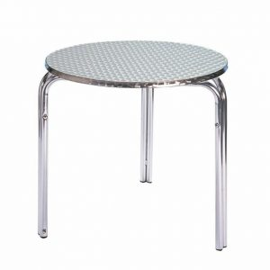 Round 3 Legged Aluminium Table - Ex Hire - BE Furniture Sales