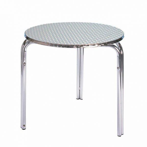 Round 3 Legged Aluminium Table - Ex Hire - BE Furniture Sales