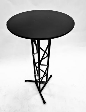 Black High Table with Black Ply Top - BE Furniture Sales
